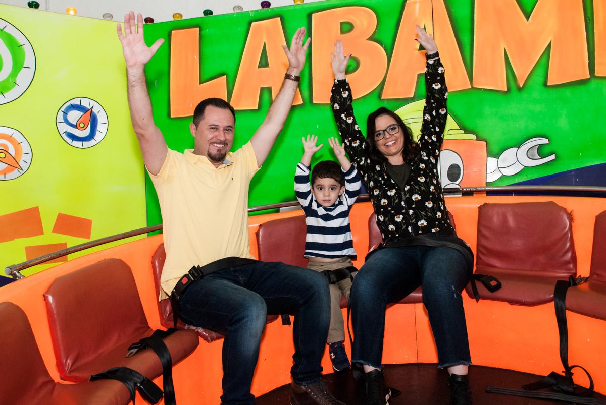Labamba divertido com os pais