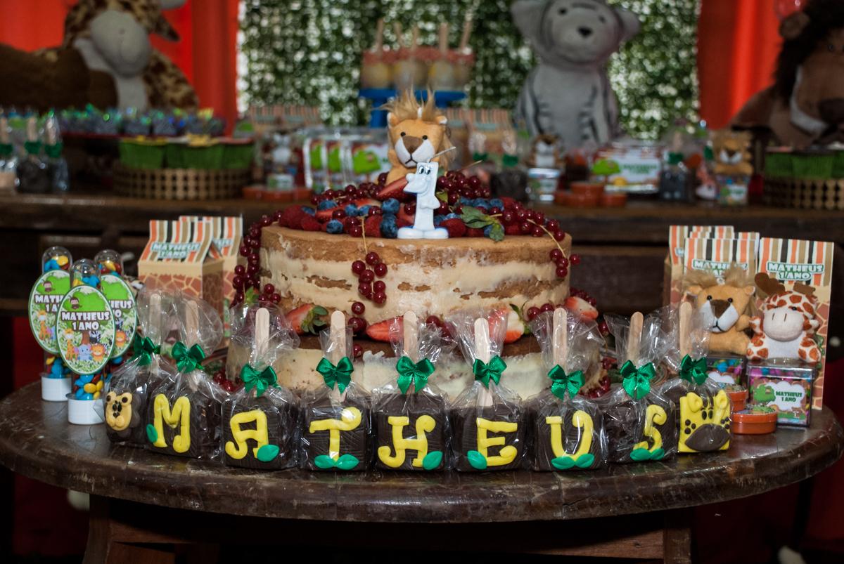 hora de cantar parabéns para o Matheus 1 ano