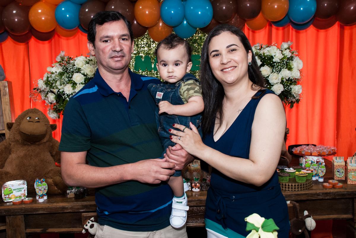 aniversariante com os pais