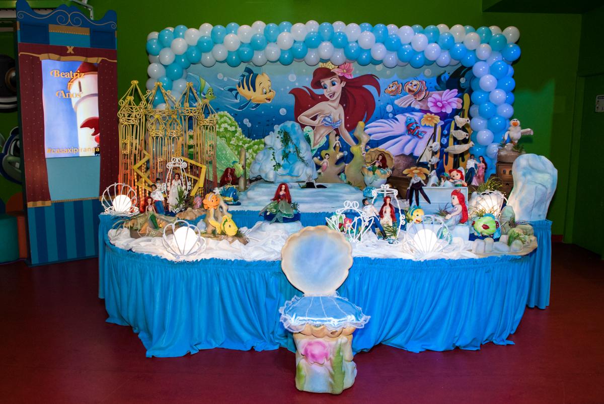 Mesa decorada da Moana