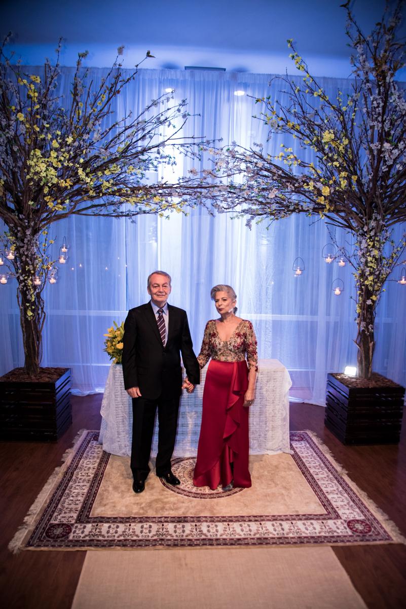 final da cerimônia de bodas de ouro
