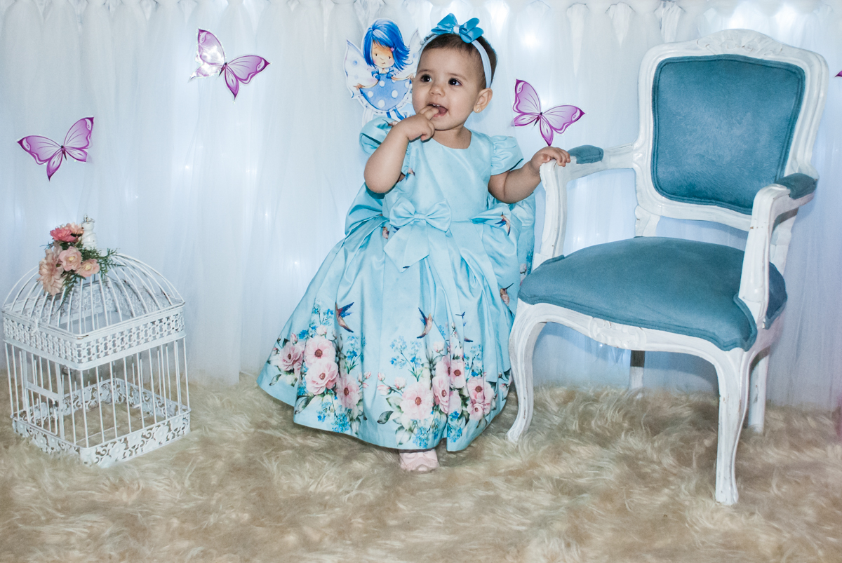 A princesa linda curtindo sua festa