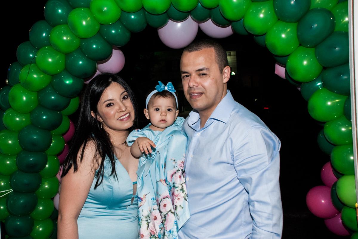 foto da aniversariante com os pais