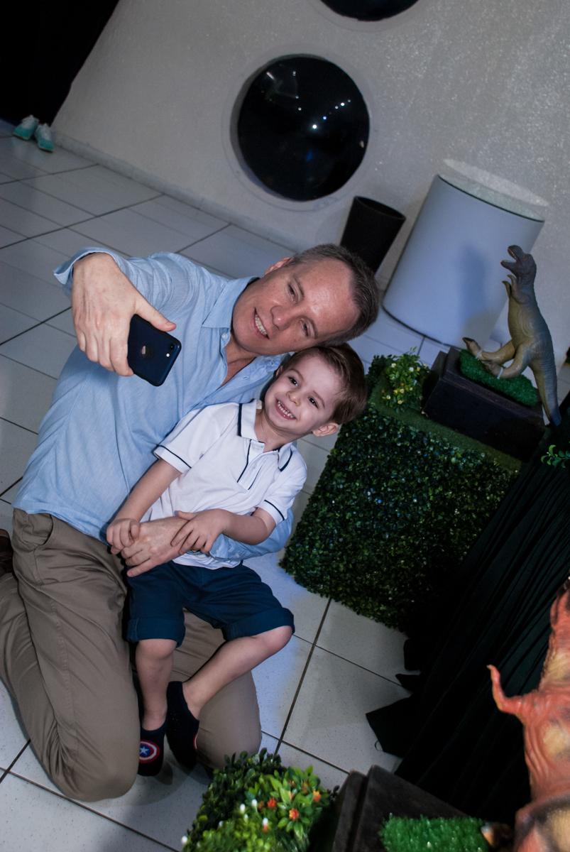 fazendo self com o papai