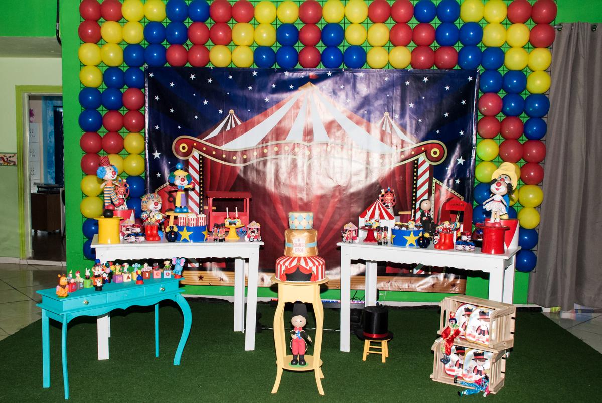 Tema da mesa circo