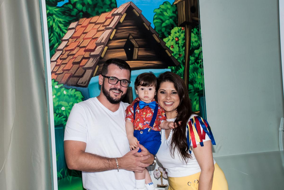 fotografia da família