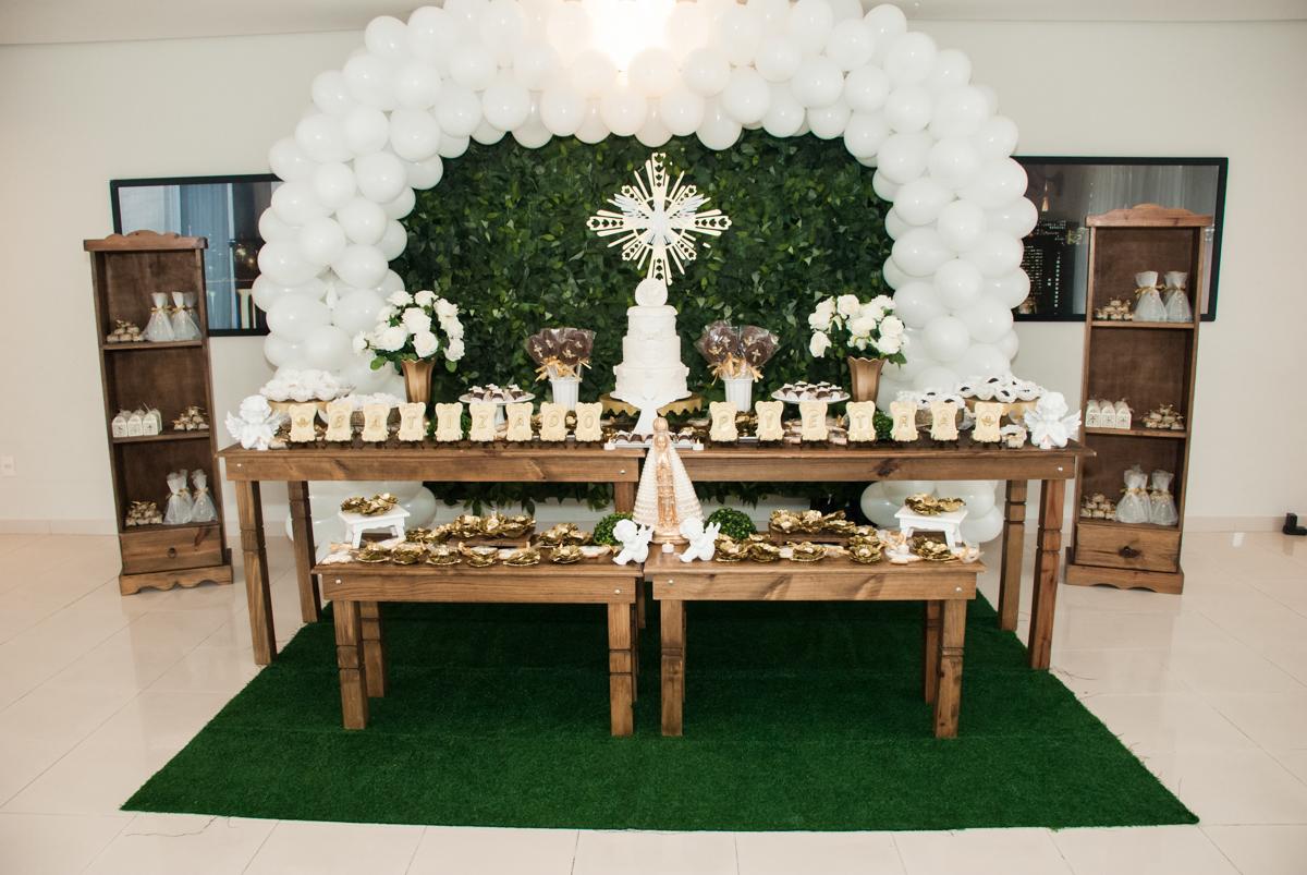 mesa decorada para a recepção