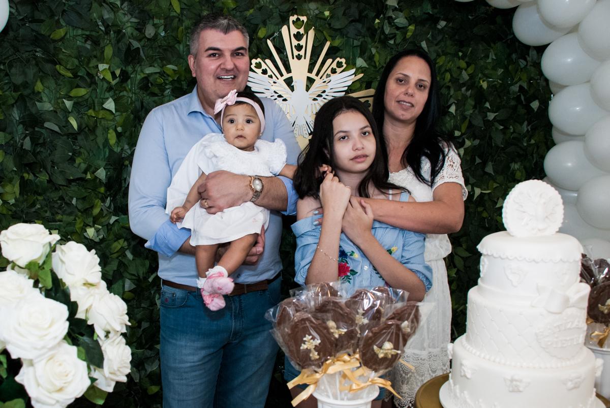 A família juntas na fotografia