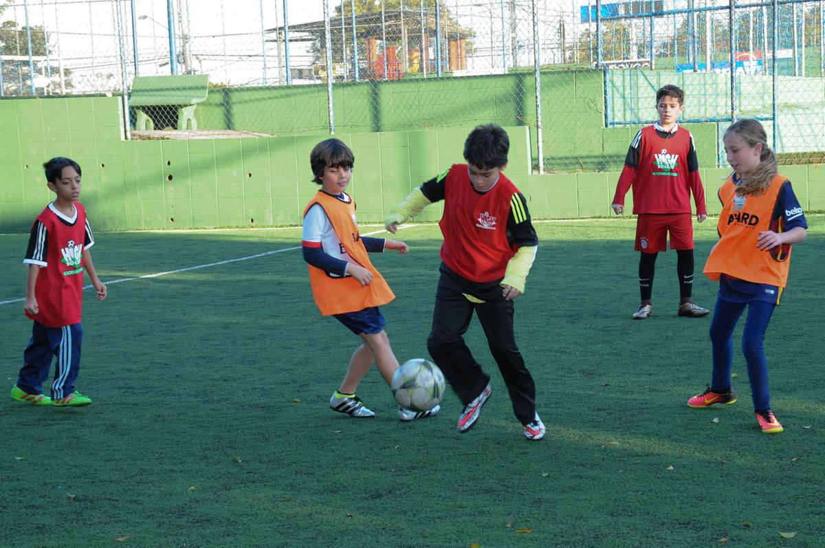 Fotografia de uma jogada no futebol no Buffet High Soccer