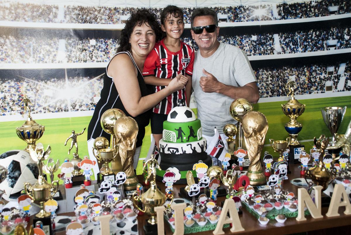 foto de Luana com os pais
