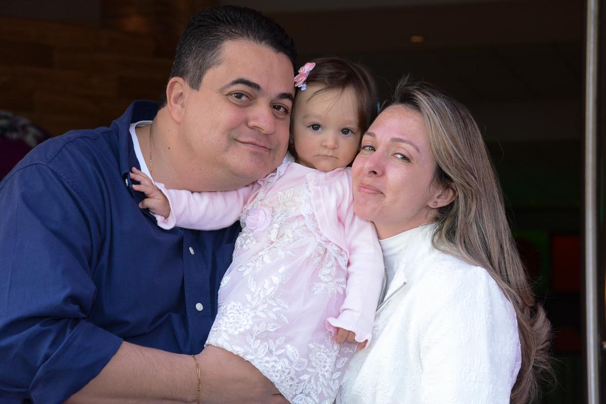 Lorena juntino com papai e mamãe  no Buffet Planeta Kids, São Paulo - SP