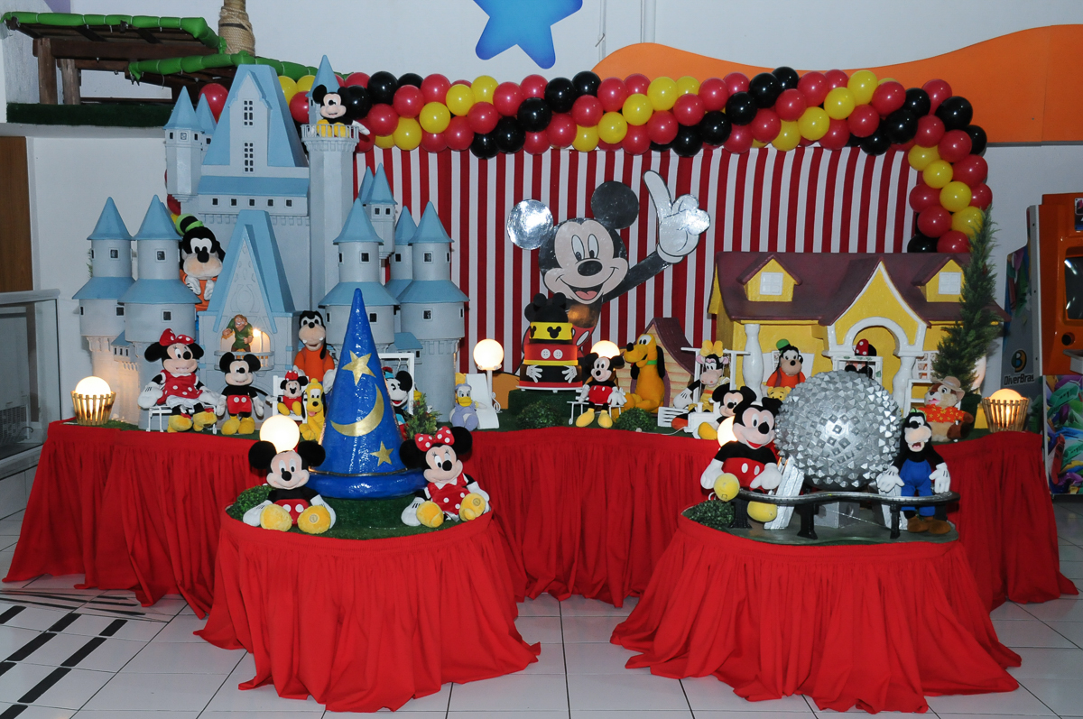 mesa do mickey no fachada do buffet magic joy, saude