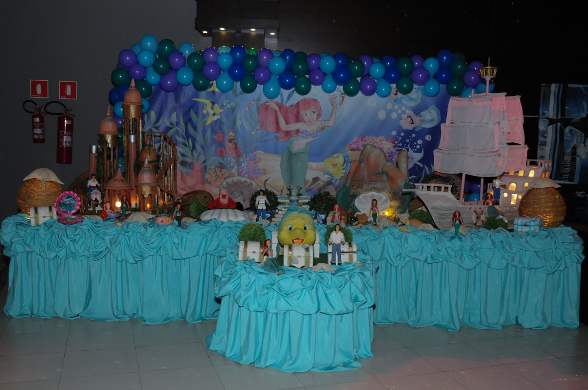 mesa decora tema ariel Buffet Planeta Prime-Alphaville