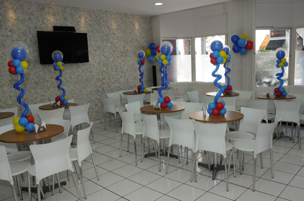 salão decorado do Buffet Magic Joy - Moema, São Paulo