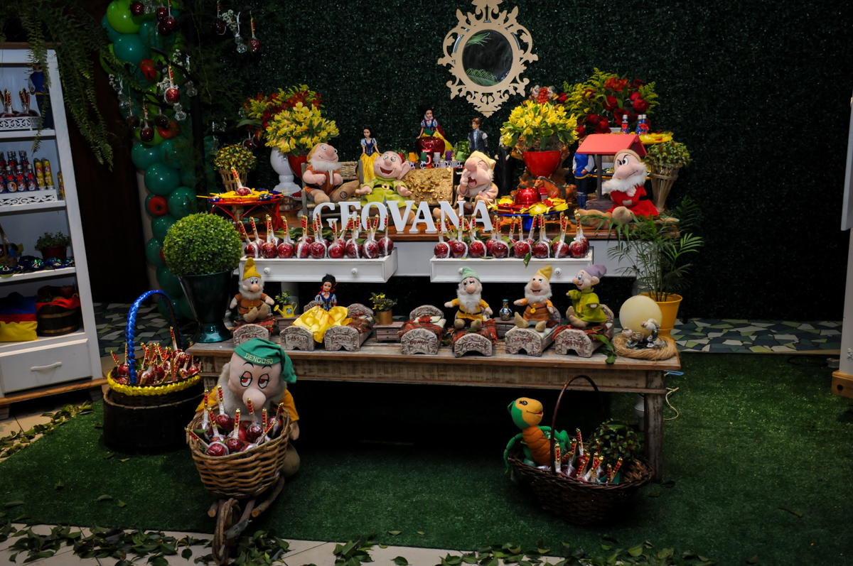 detalhes da mesa decorada no Buffet Viva Vida, Butantã, São Paulo
