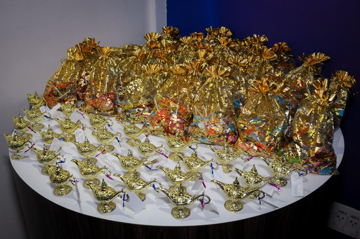 lembrancinhas do tema alladim no Buffet Infantil Ra Tim Boom, Saude, São Paulo