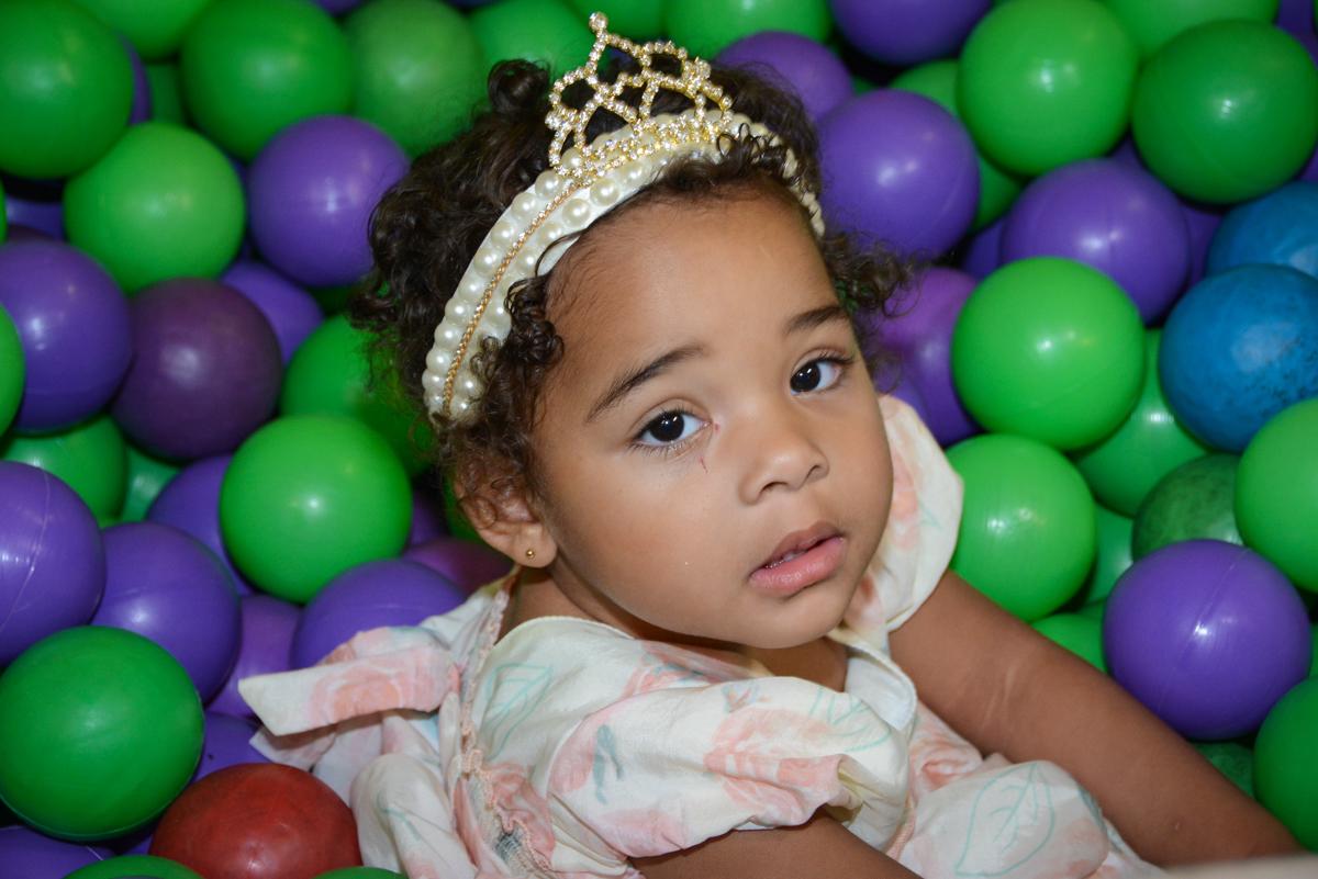 princesa da festa na piscina de bolinha no Buffet Fábrica da Alegria Unidade Morumbi,São Paulo