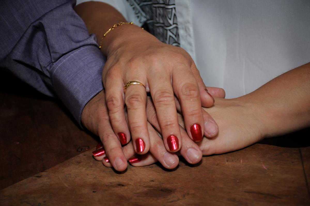 foto das mãos simbolizando união no Buffet Fábrica da Alegria, osasco, sp