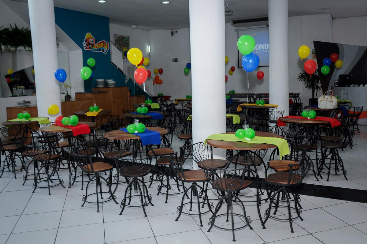 decoração do Buffet Fábrica da Alegria Morumbi