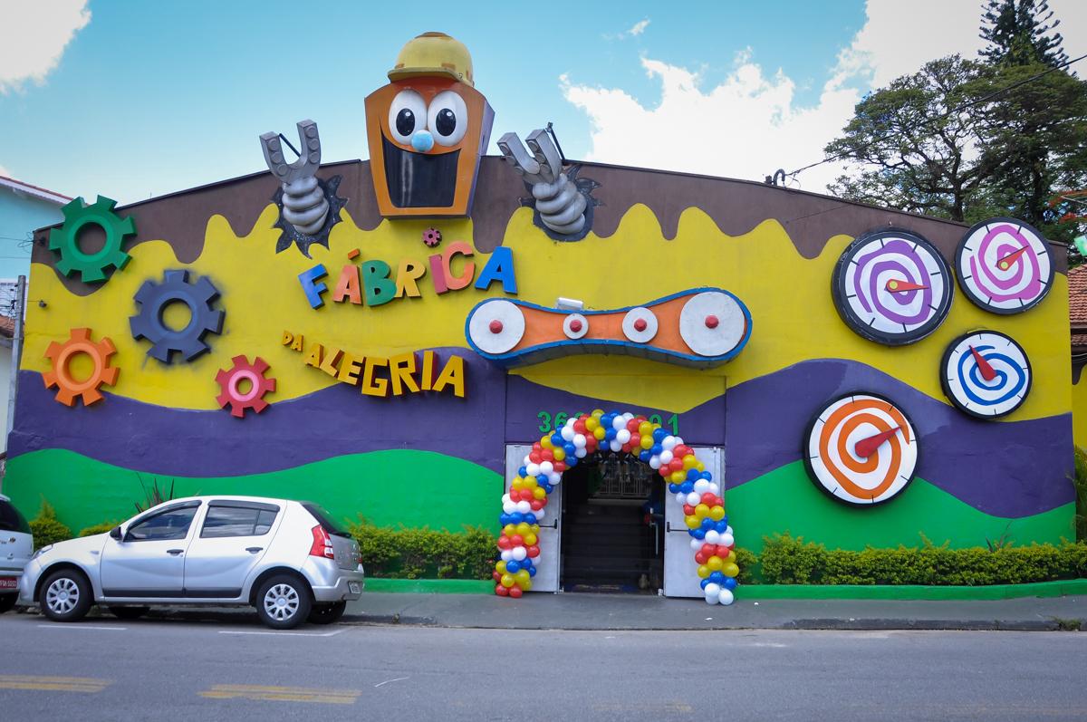 Buffet Fábrica da Alegria, Osasco, festa do Levi 1 aninho, tema da festa Bob zoom