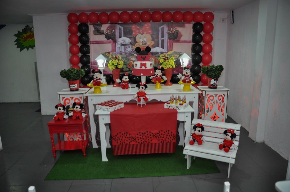Festa de Maria Eduarda 1 aninho, tema minie vermelha, Buffet Mundo Kids, Osasco São Paulo