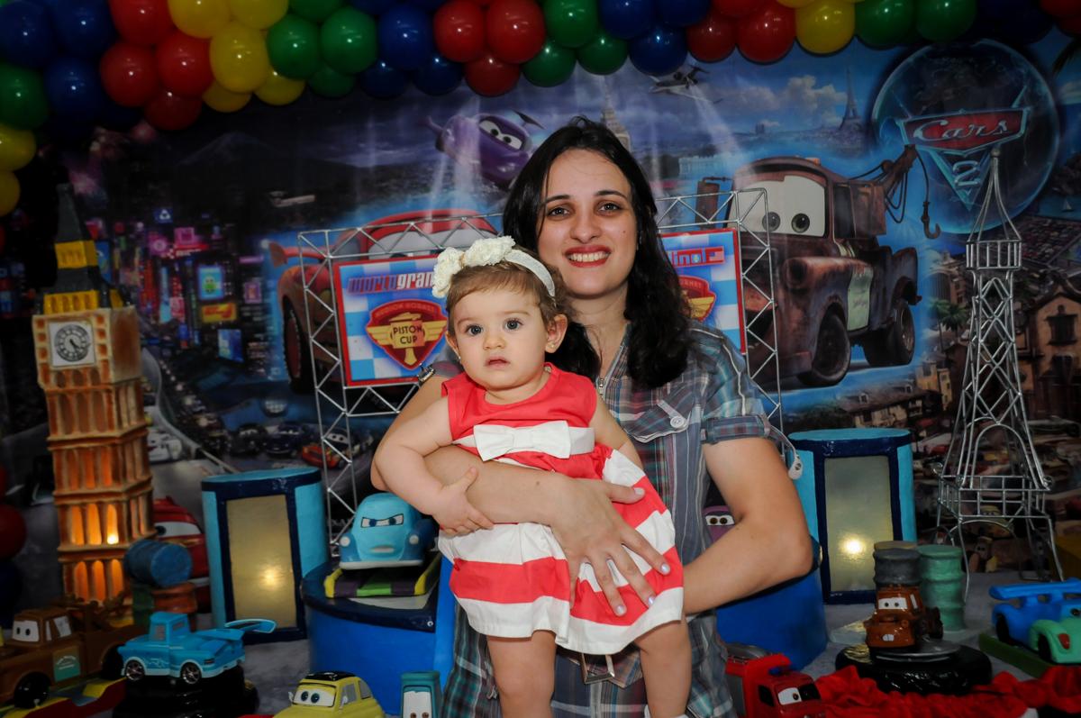 irmãzinha do aniversariante no Buffet Fábrica da Alegria, Morumbi, SP. festa infantil, Samuel 4 anos, tema Carros
