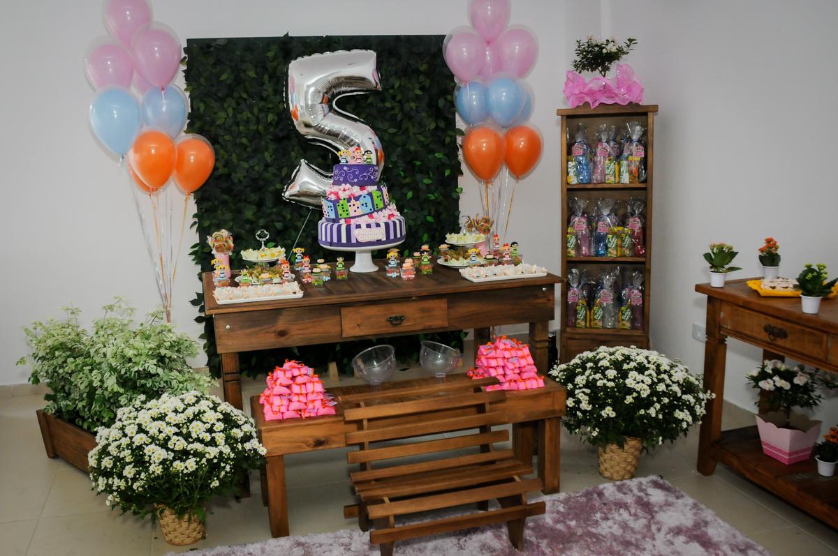 Festa infantil Paulina Chieko 5 anos, condomínio Saúde, São Paulo, SP, tema da festa meninas super poderosas