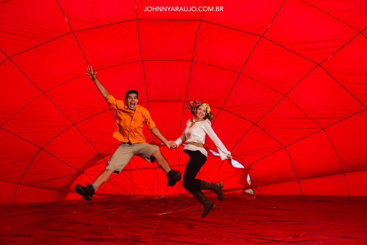 aventura no balão ensaio casal
