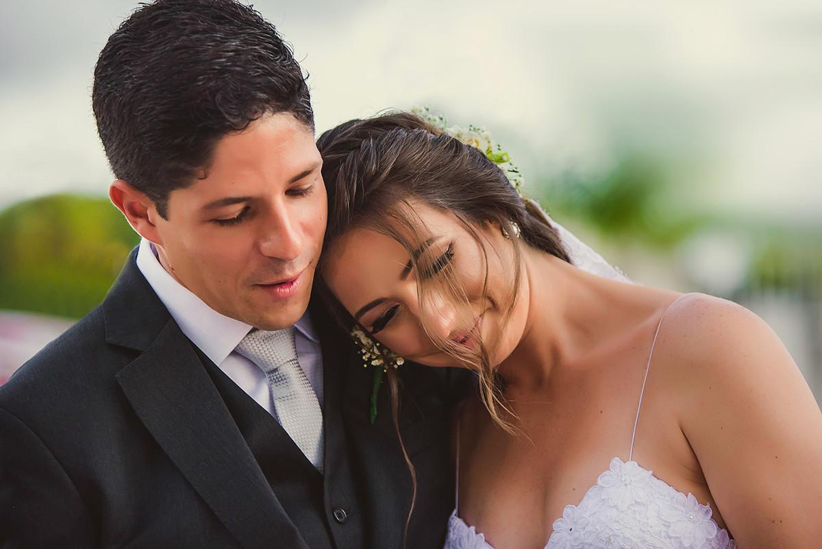 Marcela e Alvaro no dia do  Casamento