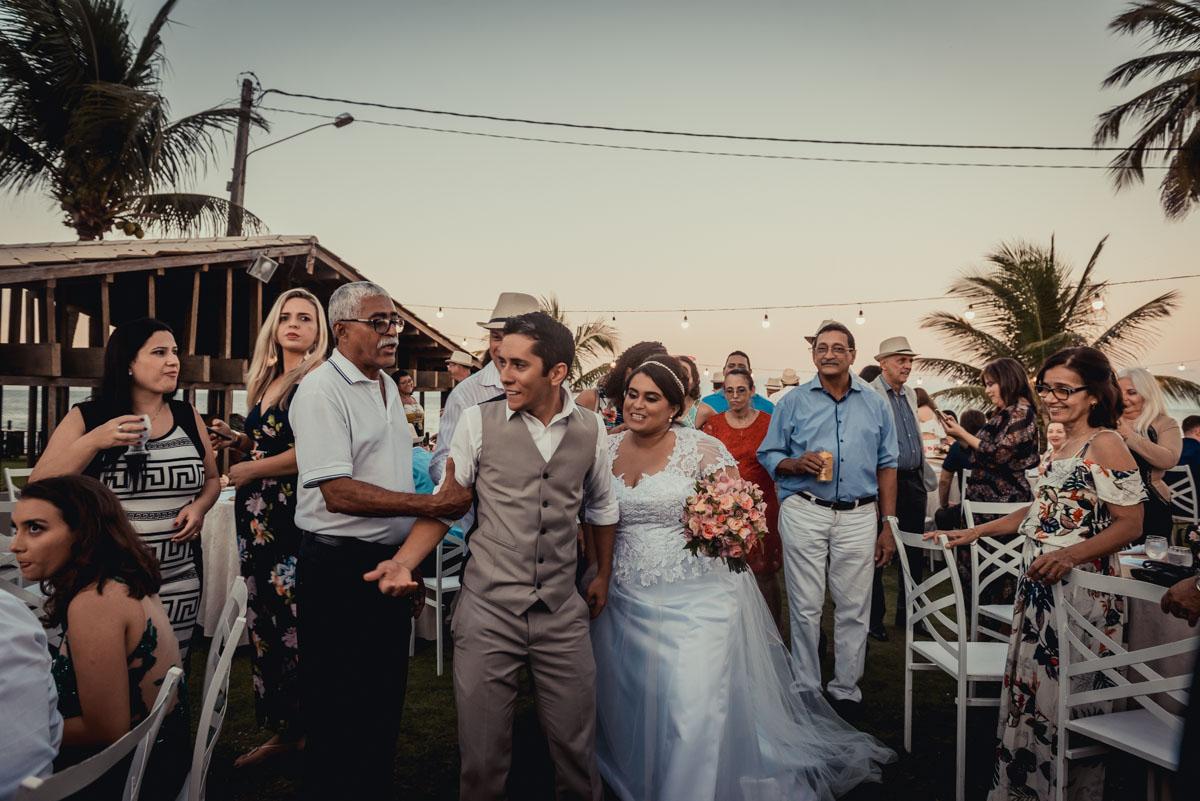momentos da festa de casamento