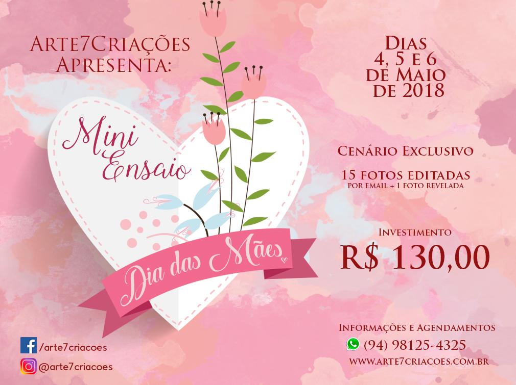 Imagem capa - Mini Ensaio Dia das Mães 2018 por Arte7Criaçoes