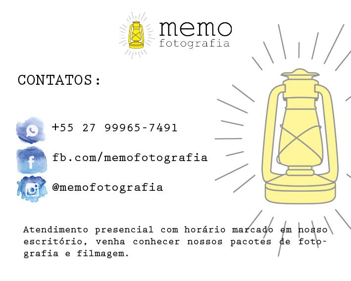 Contate Memo Fotografia, registrando histórias