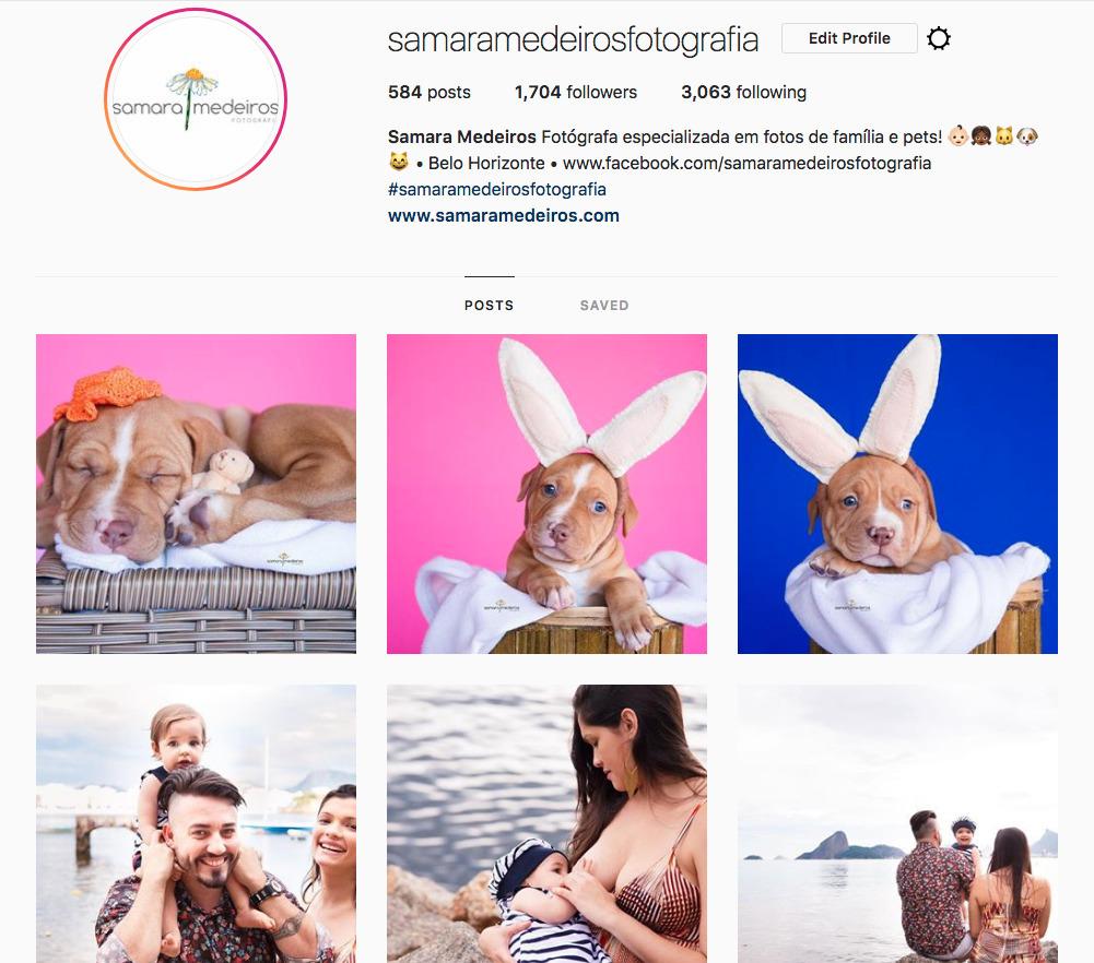 Imagem capa - Dicas de fotografia - 5 perfis de Instagram que eu indico por Samara Medeiros Fotografia