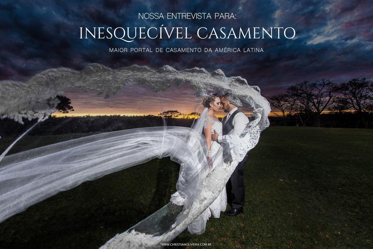 Imagem capa - Nossa matéria na Inesquecível Casamento - Maior portal de casamentos da América Latina por CHRISTIAN OLIVEIRA