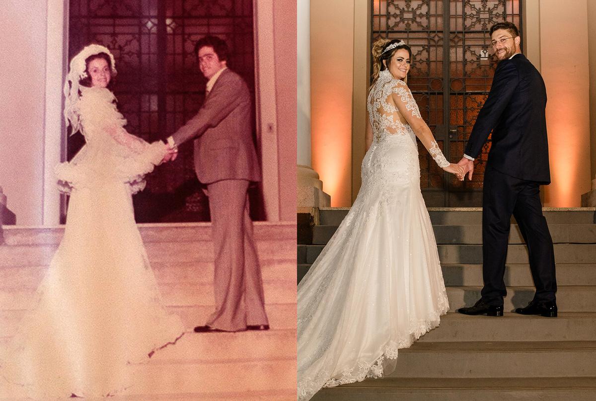 Imagem capa - Após 40 anos noiva reproduz foto de casamento de seus pais realizado em São Roque - SP por Guilherme Lion