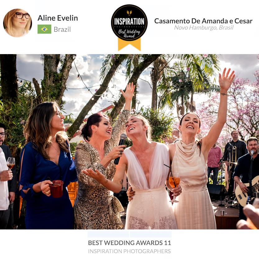 Imagem capa - Fotos de casamento de Amanda e Cesar conquistam Premiação Internacional por Aline Evelin