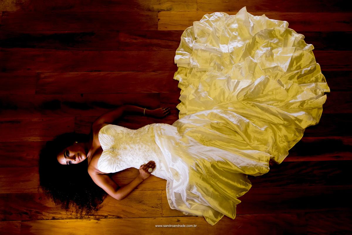Uma retrato lindo da noiva, digna do verso da musica