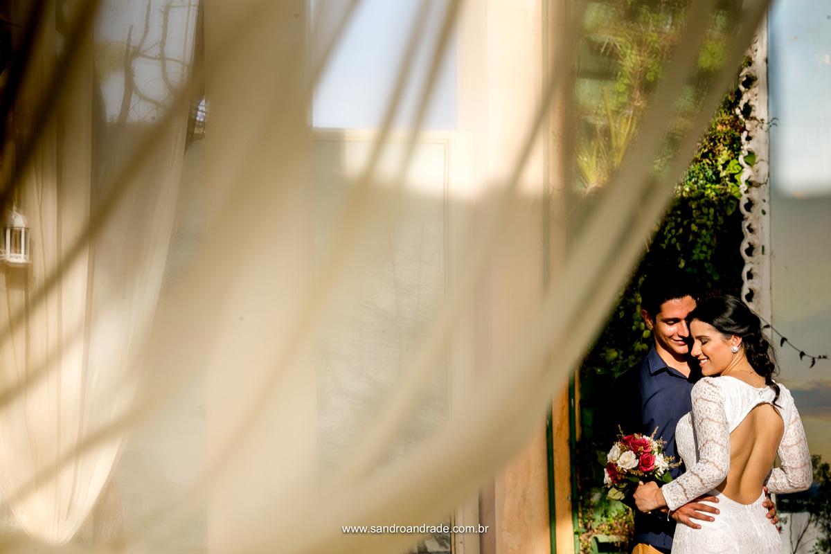 Linda fotografia de Sandro Andrade desse belissimo casal, Jéssica e Leoni, casal top e apaixonados.