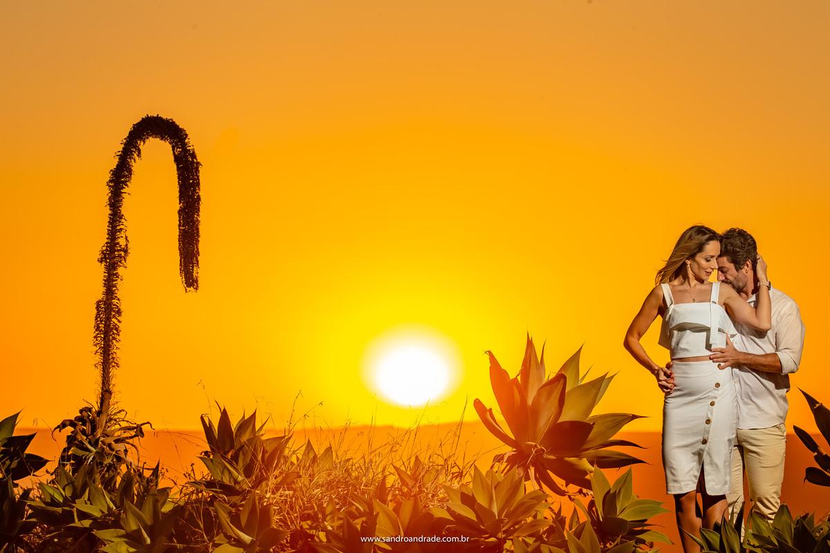Um gesto singelo e o maravilho por do sol do Paraíso na Terra.