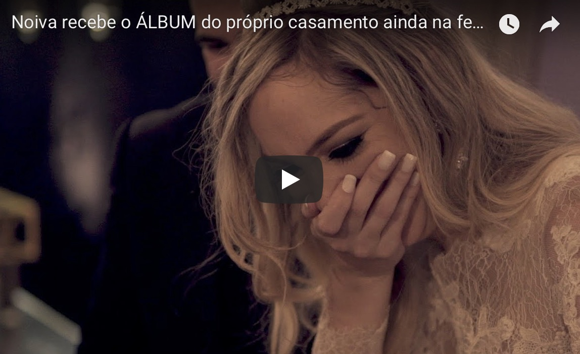 Imagem capa - VIDEO OFICIAL: Noiva recebe álbum ainda na festa! por Junior Barreto