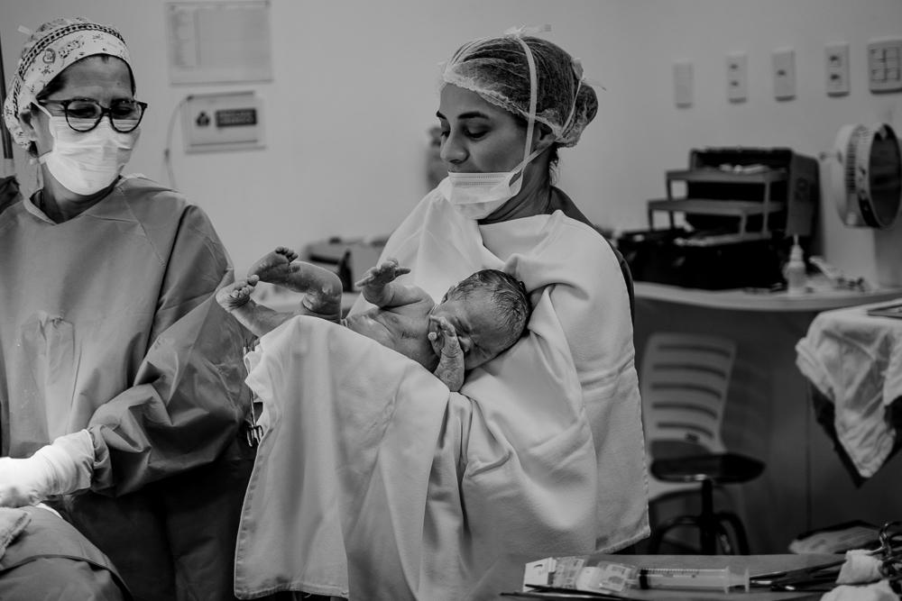 Fotografia de parto. Hospital Metropolitano, Serra - ES.