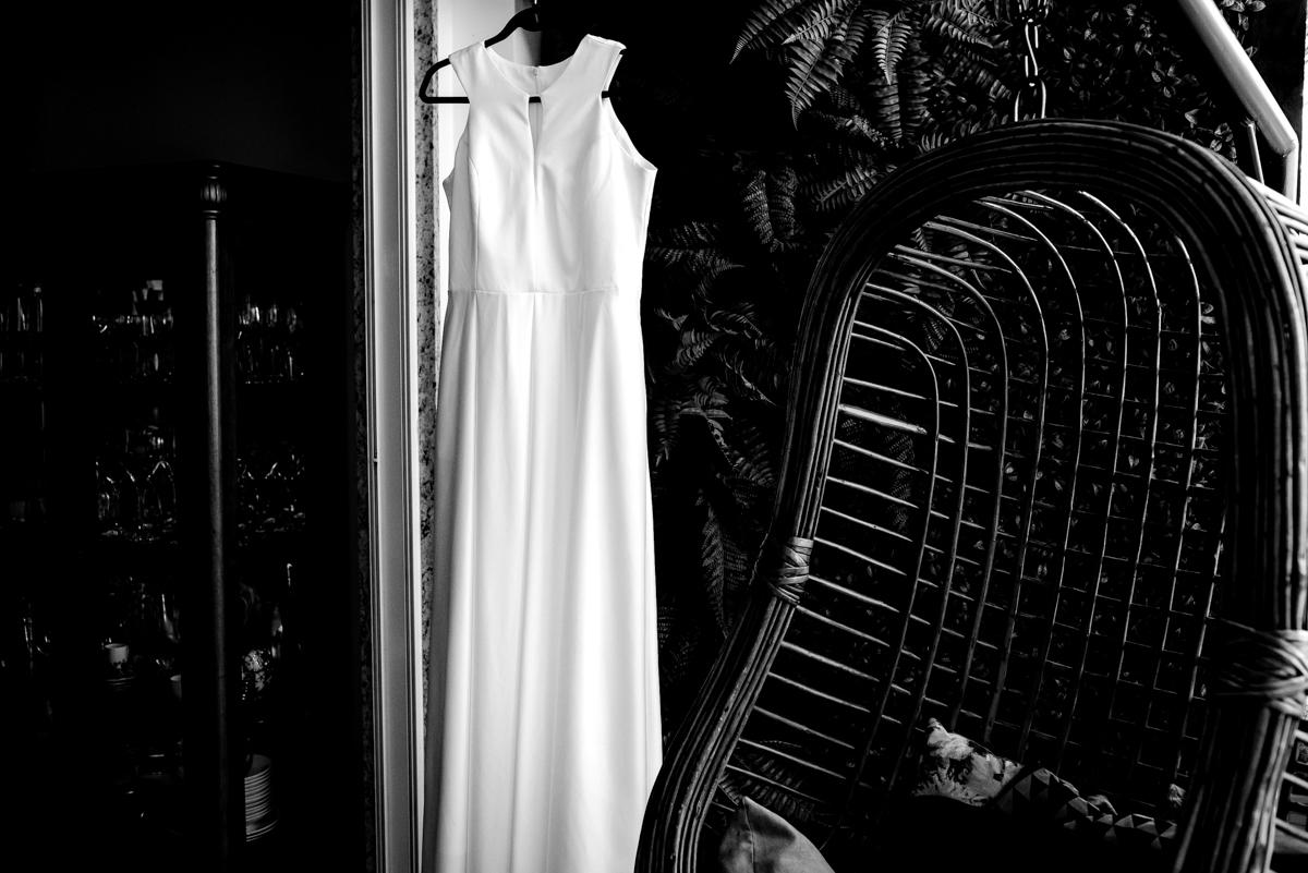 Fotografia PB Vestido de Noiva