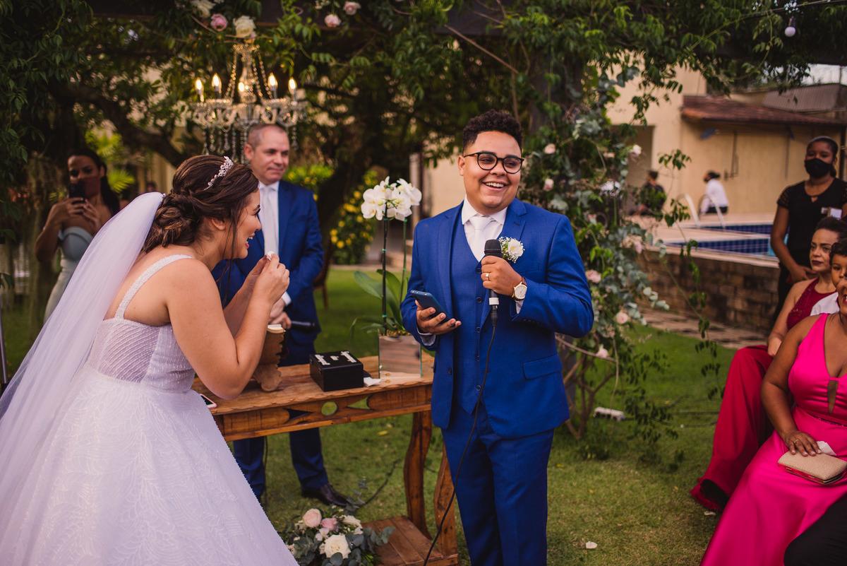 Fotografia Votos Noivo - Casamento de Dia - Balneario Carapebus - Serra ES