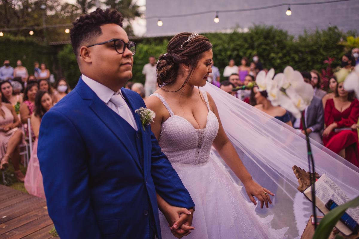 Fotografia de Casamento - Noivos no Altar - Casamento Cerimonial dos Sonhos - Fotografia Cerimonia - Balneario Carapebus - Serra ES