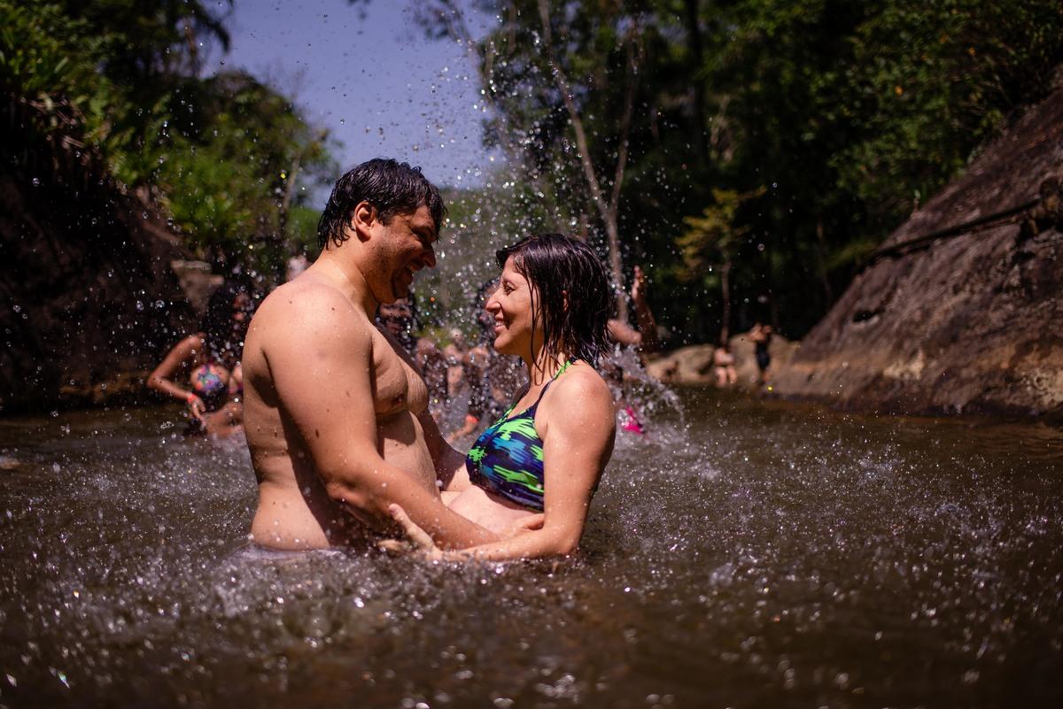 cachoeira - ensaio fotografico gestante - viana es
