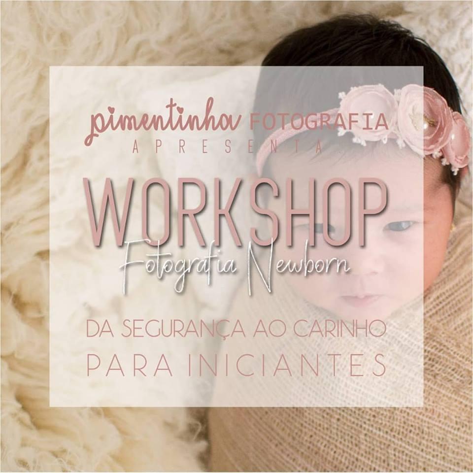 Imagem capa - Worshop Fotografia Newborn - Da segurança ao Carinho / Para Iniciantes por Jaquelini da Rosa dos Anjos dos Santos