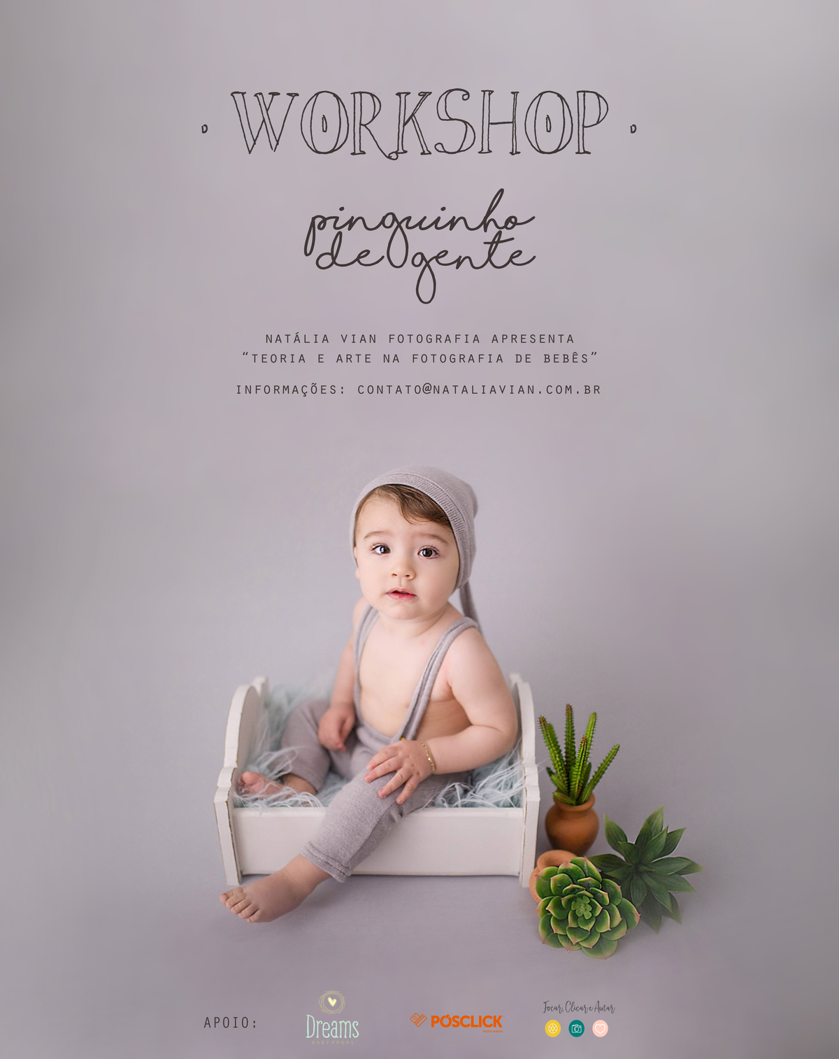 Imagem capa - Workshop Pinguinho de gente 2018 por Natália Vian Fotografia