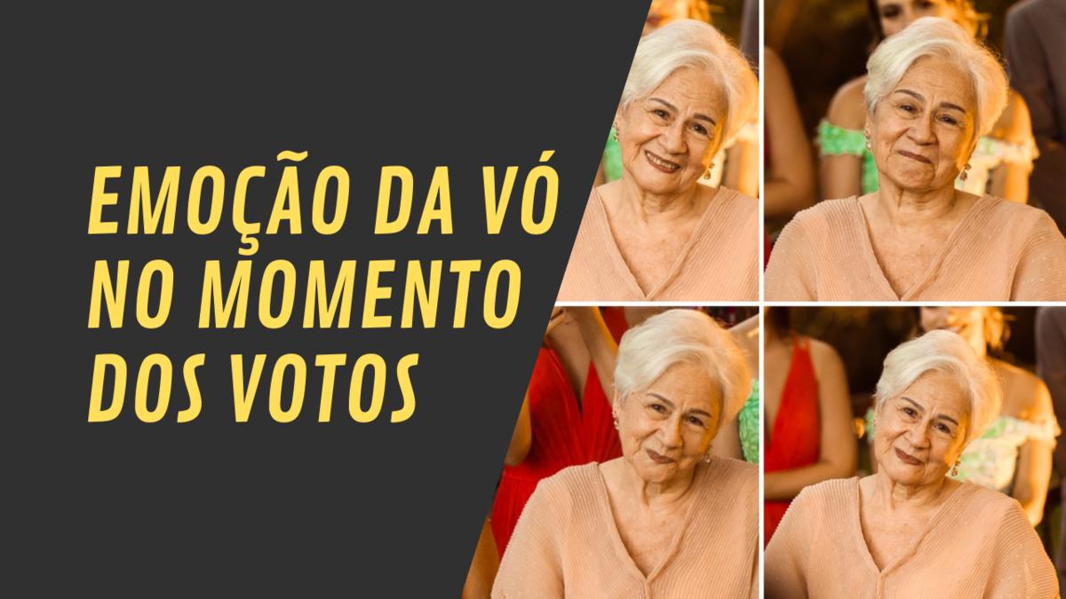 Imagem capa - Emoção da vó no momento dos votos - Casamento de Bruna e Lucas - Casa de Chá por Rafael Acioli