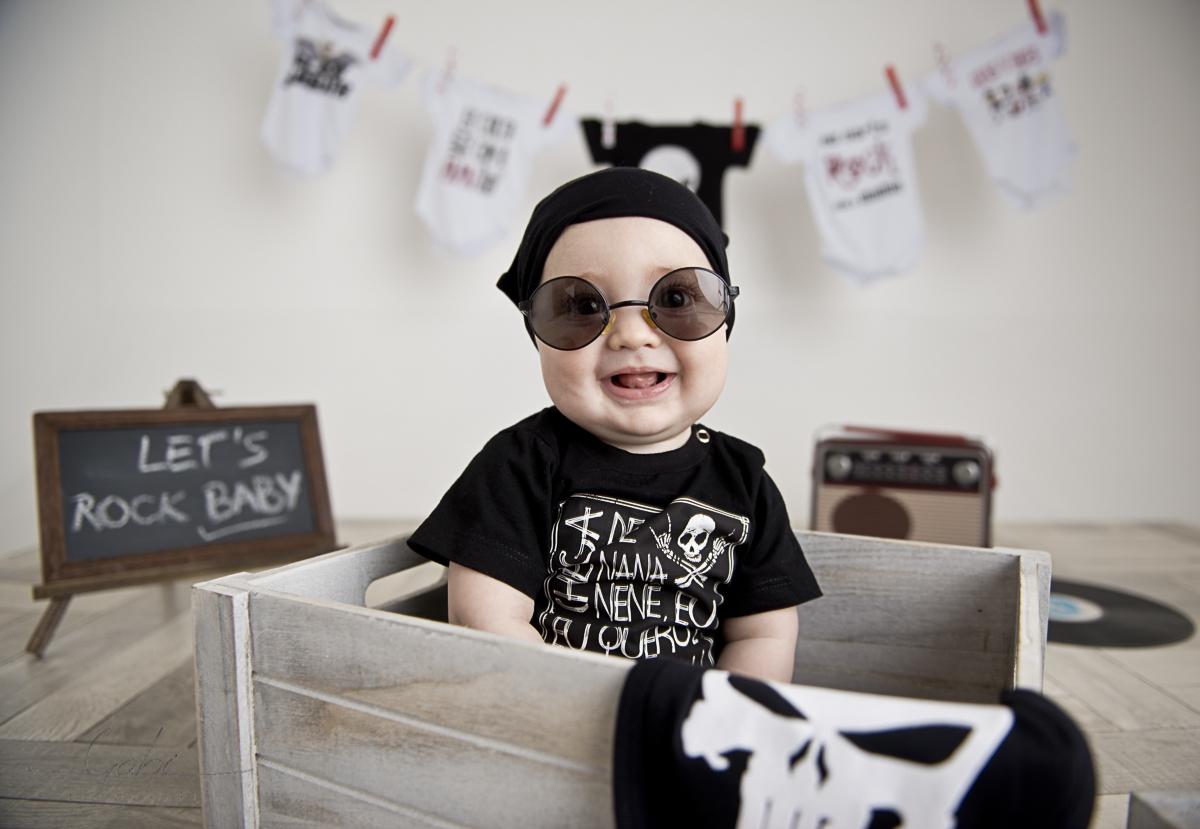 Imagem capa - Ensaio Let´s Rock Baby ! - Cenário Gostos da Família por Estúdio Gabi Fotografia