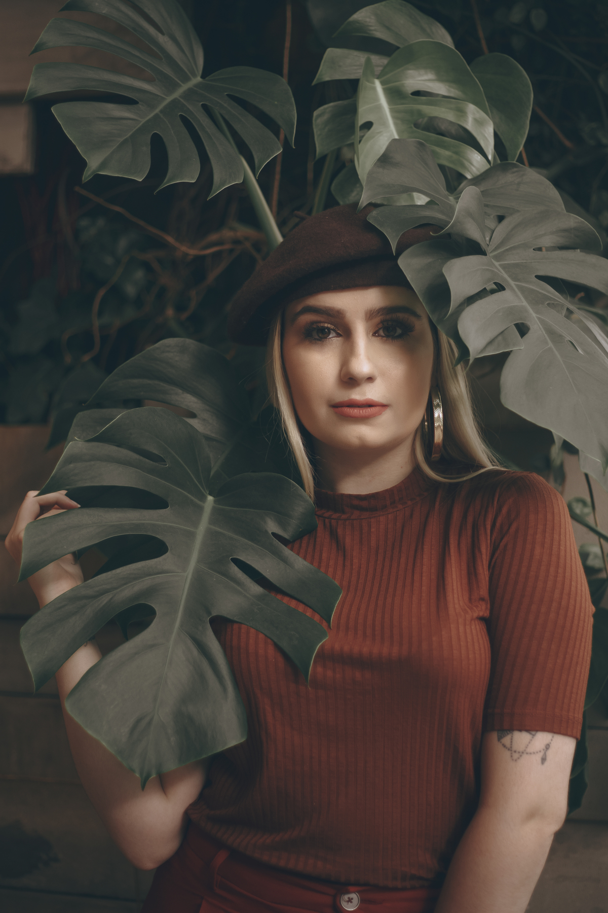 fotos em meio das folhas
